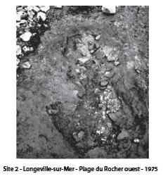 Longeville - Plage du Rocher en 1975