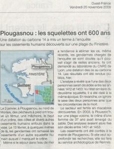 2009-11-20 - Ouest France _  Plougasnou, les squelettes ont 600 ans